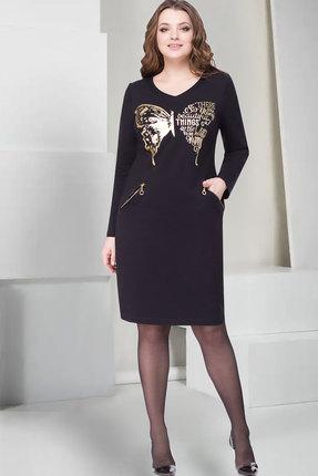 Купить Платье ТАиЕР 751 чёрный, Повседневные платья, 751, чёрный, Хлопок 65%, Полиэстер 25%, Лайкра 10%, Мультисезон