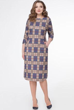 Купить Платье БелЭкспози 1165 клетка , Повседневные платья, 1165, клетка , Полиэстер 75%, вискоза 21%, спандекс 4%, Мультисезон