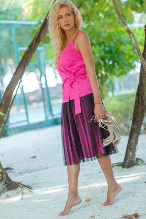Купить Комплект юбочный Vesnaletto 1998-2 розовый, Юбочные, 1998-2, розовый, Топ: ПЭ 97%+Спандекс 3% Юбка: ПЭ 100%, Лето