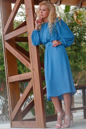 Купить Платье Vesnaletto 2009 голубой, Повседневные платья, 2009, голубой, ПЭ 100%, Лето