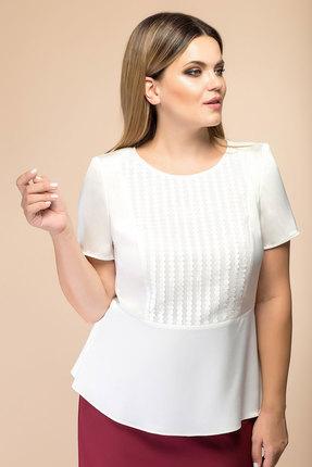 Купить Блузка Romanovich style 8-1700 белый, Блузки, 8-1700, белый, 100% ПЭ, Мультисезон