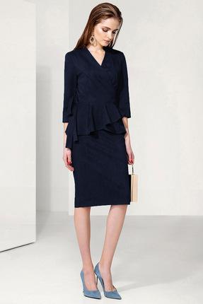 Купить Комплект юбочный Gizart 7115с синий, Юбочные, 7115с, синий, Блузка и юбка: Полиэстер 97%, Спандекс 3%, , Мультисезон