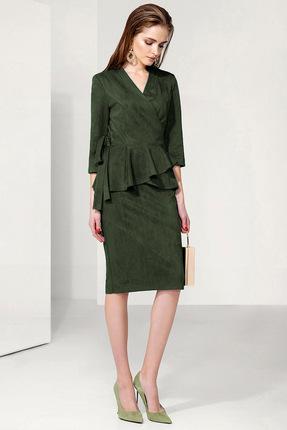 Купить Комплект юбочный Gizart 7115з1 зеленый, Юбочные, 7115з1, зеленый, Блузка и юбка: Полиэстер 97%, Спандекс 3%, , Мультисезон