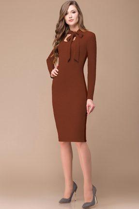 Купить Платье Svetlana Style 1139 коричневый, Повседневные платья, 1139, коричневый, ПЭ 85%+Вискоза 13%+Спандекс 2%, Мультисезон
