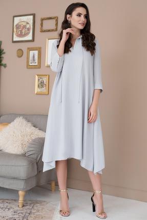 Купить Платье ЮРС 19-971-1 светло голубой, Повседневные платья, 19-971-1, светло голубой, Тип ткани: костюмно-плательная. Состав на платье: полиэстер 62%, вискоза 33%, спандекс 5%., Мультисезон