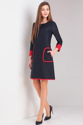 Купить Платье Милора-Стиль 678 синий, Повседневные платья, 678, синий, Вискоза - 27%, полиэстер – 67%, спандекс – 2%, эластан - 4%, Мультисезон