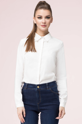 Купить Рубашка LeNata 11931 белый, Рубашки, 11931, белый, 100% хлопок, Мультисезон