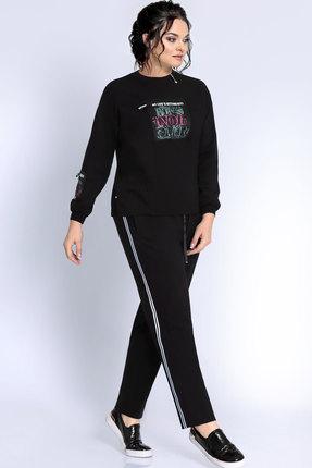 Купить Спортивный костюм Джерси 1760 черный, Спортивные костюмы, 1760, черный, п/э 70%, вискоза 25%, п/у 5%, Мультисезон