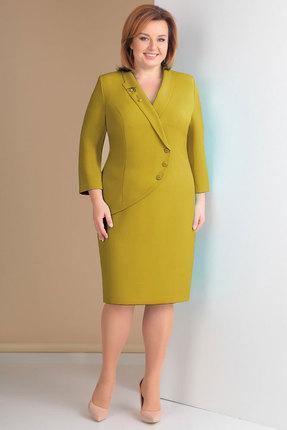 Купить Платье Ксения Стиль 1617 горчица, Повседневные платья, 1617, горчица, п/э 71%, вискоза 23%, спандекс 6% (текстиль), Мультисезон