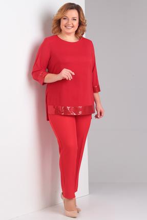 Комплект брючный Диамант 1371 красный