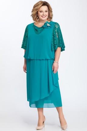 Купить Платье Pretty 813 бирюзовый, Вечерние платья, 813, бирюзовый, 20% вискоза, 80% полиэстр, Мультисезон