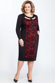 Платье Pretty 819 черный+красный