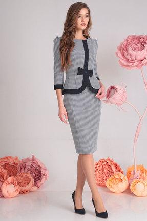 Купить Комплект юбочный SandyNa 13548 серо-синий, Юбочные, 13548, серо-синий, жакет и юбка: ткань текстильная 65% полиэстр, 33% вискоза, 2% эластан Наименование материала подкладки: подкладка полиэстер 100%, Мультисезон