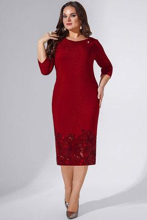 Купить Платье Erika Style 738 бордо, Вечерние платья, 738, бордо, вискоза 72%, ПЭ 25%, спандекс 3%, Мультисезон