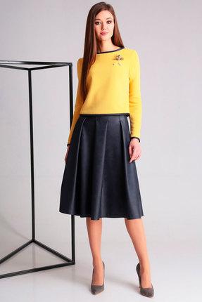 Комплект юбочный Axxa 26098 желтый с синим