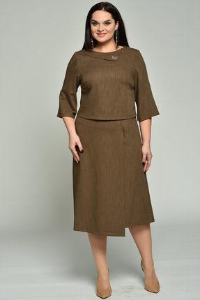Комплект юбочный Lady Style Classic 1565 коричневый