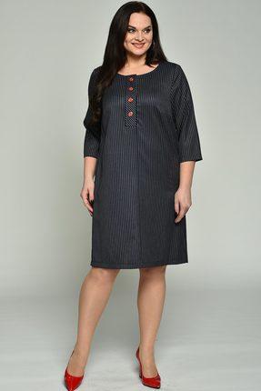 Купить Платье Lady Style Classic 1630 чернильный, Повседневные платья, 1630, чернильный, ПЭ 63%, Вискоза 35%, ПУ 2%, Мультисезон