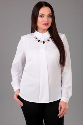 Купить Блузка Таир-Гранд 62325 белый, Блузки, 62325, белый, креп-шифон: пэ 98%, спандекс 2%, Мультисезон