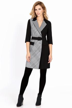 Купить Платье PIRS 611 черный, Вечерние платья, 611, черный, 70%полиэстер 20%шерсть 10%вискоза, Мультисезон