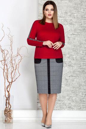 Комплект юбочный Ivelta plus 2464 красный с серым