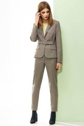 Комплект брючный Denissa Fashion 1214 темно-бежевый