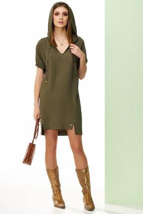 Купить Платье Denissa Fashion 1219 зеленые тона, Повседневные платья, 1219, зеленые тона, уточняется, Мультисезон