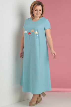 женское повседневные платье algranda, голубое