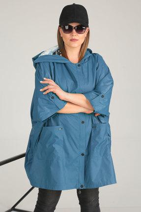 Купить со скидкой Плащ Viola Style 6025 синий