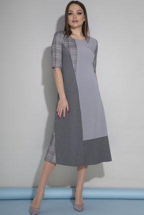 Платье JeRusi 1919 серый, Повседневные платья, 1919, серый, ПЭ 95%, Спандекс 5%, Мультисезон  - купить со скидкой
