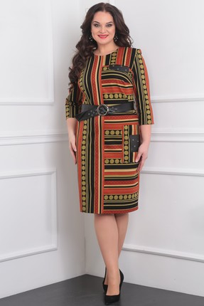 Купить Платье Milana 996 терракотовый, Повседневные платья, 996, терракотовый, ХБ-80%, вискоза-18%, спандекс-2%., Мультисезон