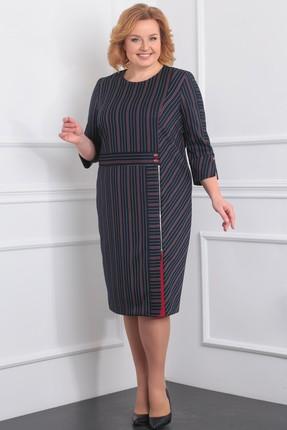 Купить Платье Milana 105 темно-синий, Повседневные платья, 105, темно-синий, Костюмно-плательная Состав: ПЭ-68%, вискоза-30%, спандекс-2%, Мультисезон