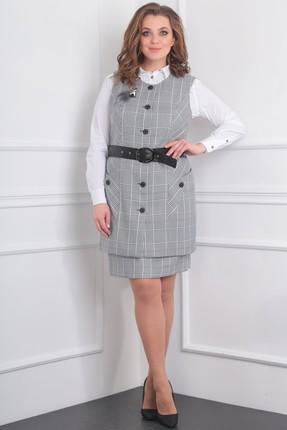 Купить Комплект юбочный Milana 984 серый, Юбочные, 984, серый, Текстильная со стрейчем Состав: ПЭ-68%, спандекс-2%, вискоза - 30%., Мультисезон