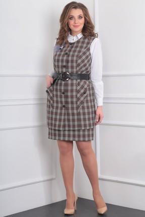 Купить Комплект юбочный Milana 984 коричневый, Юбочные, 984, коричневый, Текстильная со стрейчем Состав: ПЭ-68%, спандекс-2%, вискоза - 30%., Мультисезон