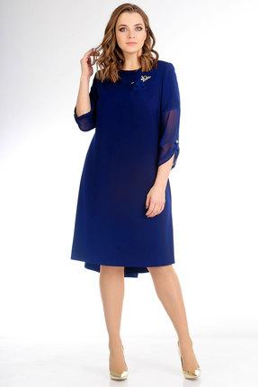 Купить Платье Мишель стиль 730 василек, Вечерние платья, 730, василек, полиэстер 67%, вискоза 30%, спандекс 3%, Мультисезон