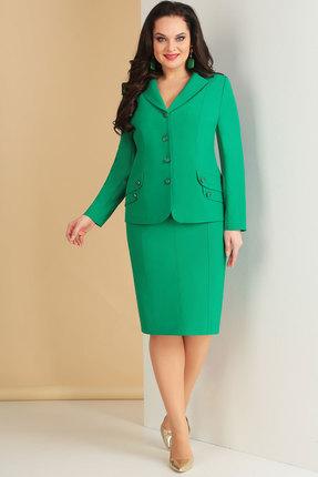 Купить Комплект юбочный Ксения Стиль 1624 зеленый, Юбочные, 1624, зеленый, п/э 71%, вискоза 23%, спандекс 6% (текстиль), Мультисезон