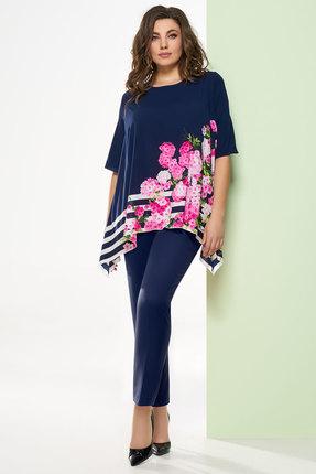 Комплект брючный Denissa Fashion 1248n темно-синий
