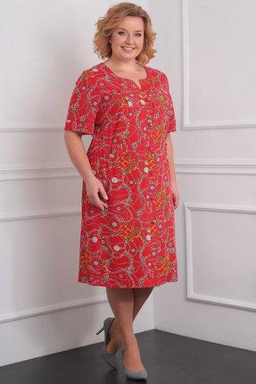 Купить Платье Орхидея Люкс 915 красные тона, Повседневные платья, 915, красные тона, п/э 79%, вискоза 16%, п/у 5%, Мультисезон