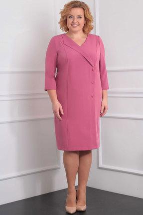 Купить Платье Орхидея Люкс 910 розовые тона, Повседневные платья, 910, розовые тона, п/э 63%, вискоза 34%, п/у 3%, Мультисезон