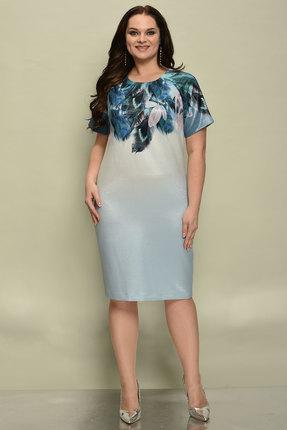 Купить Платье Solomeya Lux 558 разноцветный, Вечерние платья, 558, разноцветный, Текстиль полиэстер-85%, люрекс-6%, эластан-9%, Мультисезон