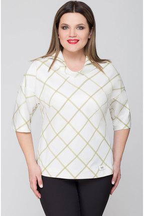 Блузка Дали 2154 молочный с бежевым