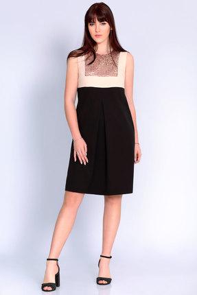 Платье Джерси 1757 черный с молочным