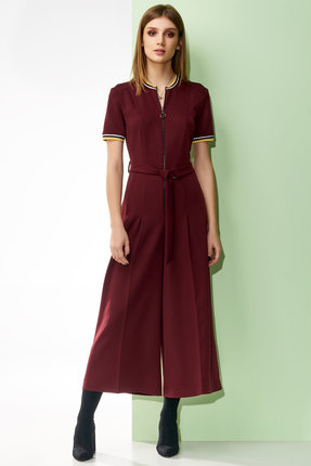 Фото - Комбинезон Denissa Fashion 1221 бордовый бордового цвета