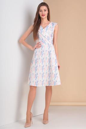 Купить Платье Moda-Versal 2001 белый, Повседневные платья, 2001, белый, Состав: 63% хлопок, 34% ПЭ, 3% эластан., Мультисезон