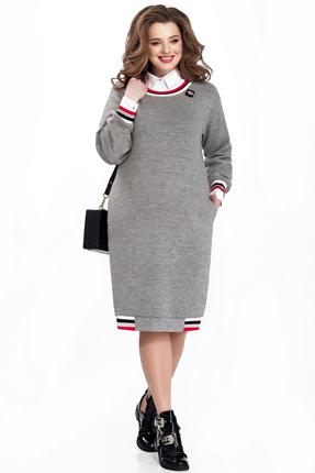 Купить Платье TEZA 142 серый с красным, Повседневные платья, 142, серый с красным, 20% шерсть 10% вискоза 70% полиэстр; 96% хлопок 4% эластан, Мультисезон