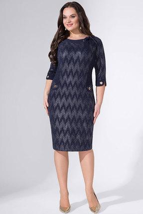 Синее трикотажное платье Erika Style
