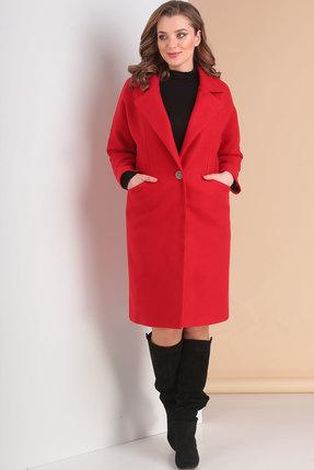 Пальто Ришелье 699 красный