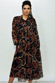 Платье Faufilure с374 черный с коричневым