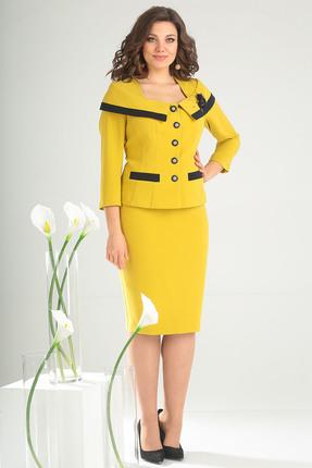 Комплект юбочный Мода-Юрс 2396 горчичный