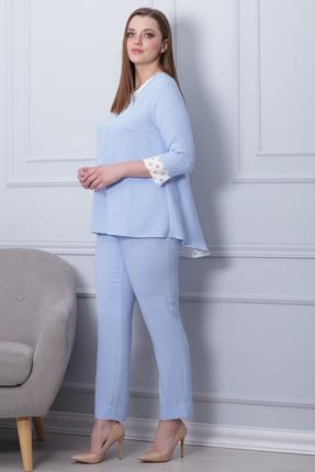 Фото 2 - Комплект брючный Michel Chic 593 голубой голубого цвета