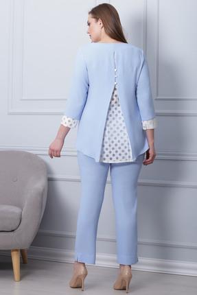 Фото 3 - Комплект брючный Michel Chic 593 голубой голубого цвета
